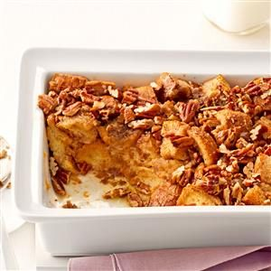 Breakfast Praline Bread Pudding Recipe