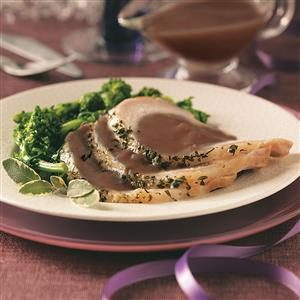 Brined Pork Roast with Port Wine Sauce Recipe