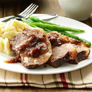 Brisket with Cranberry Gravy Recipe