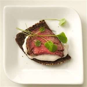 British Tenderloin & Pumpernickel Crostini Recipe