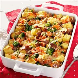Broccoli and Carrot Cheese Bake