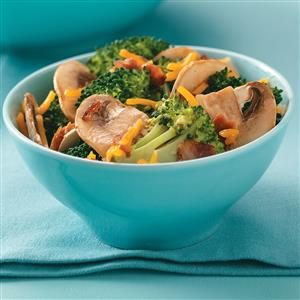 Broccoli Mushroom Salad Recipe