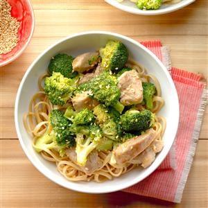 Broccoli-Pork Stir-Fry with Noodles Recipe