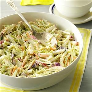 Broccoli Slaw with Lemon Dressing Recipe
