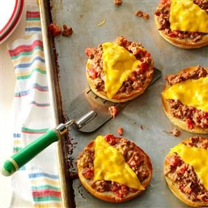 Broiled Pizza Burgers Recipe