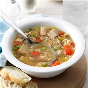 Brown Rice Turkey Soup Recipe