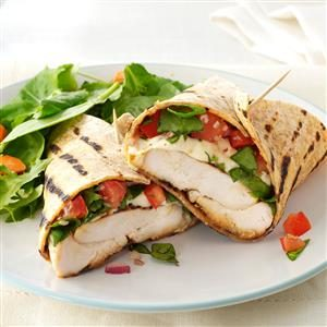 Bruschetta Chicken Wraps Recipe