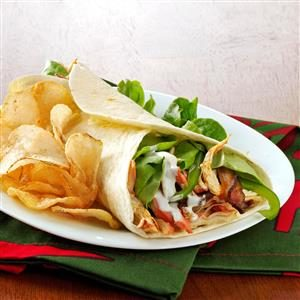 Buffalo Chicken Wraps with Bacon Recipe