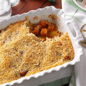 Butternut Gratin with Parmesan-Sage Topping Recipe