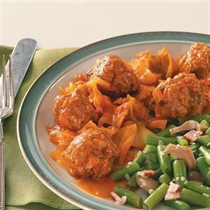 Cabbage & Meatballs Recipe