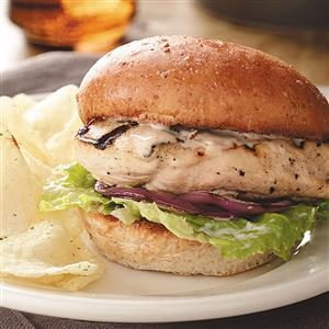 Caesar Chicken Burgers Recipe