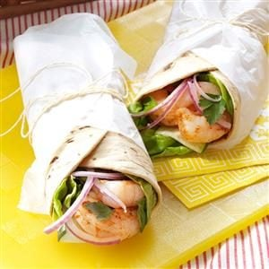 Cajun Shrimp & Cucumber Wraps