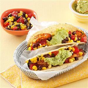 California Shrimp Tacos with Corn Salsa Recipe