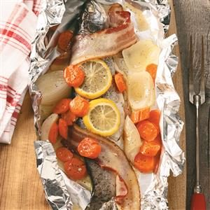 Campfire Trout Dinner for Two Recipe