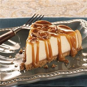 Caramel Praline-Topped Cheesecake Recipe