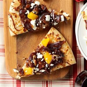 Caramelized Onion & Date Flatbread Recipe