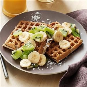 Cardamom Sour Cream Waffles Recipe