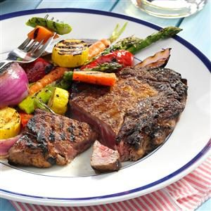 Caribbean Grilled Ribeyes Recipe