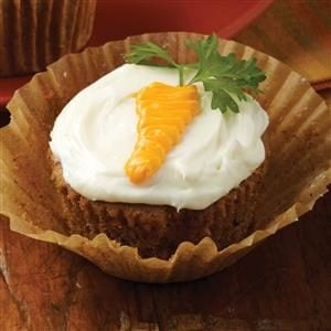 Carrot-Topped Cupcakes