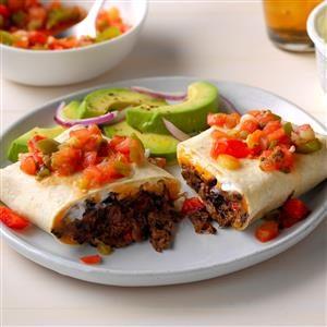 Cheddar Bean Burritos