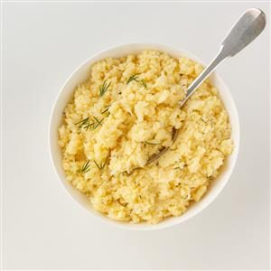 Cheddar Mashed Cauliflower