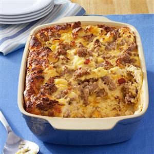 Cheese Sausage Strata Recipe