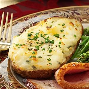 Cheese-Stuffed Twice-Baked Potatoes Recipe