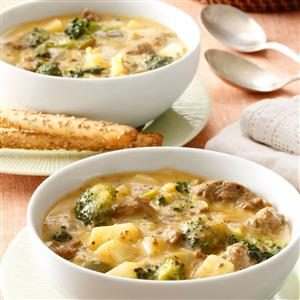 Cheeseburger Broccoli Chowder Recipe