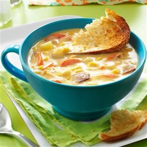 Cheesy Corn Chowder Recipe