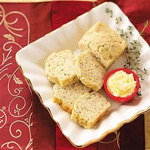 Cheesy Herb Mini Loaves Recipe