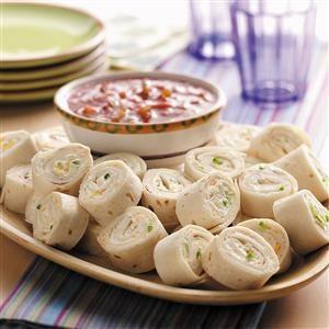 Cheesy Onion Roll-ups Recipe