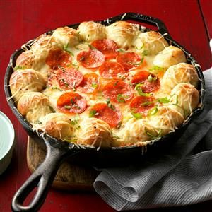 Watch Us Make: Cheesy Skillet Pizza Dip