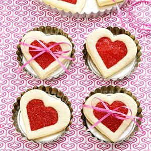 Cherry-Filled Heart Cookies Recipe