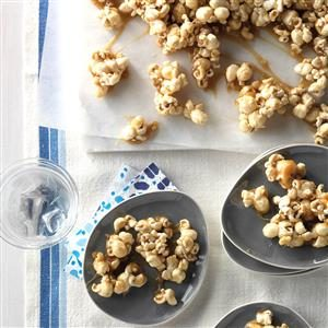 Chewy Caramel-Coated Popcorn Recipe