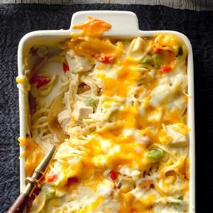 Chicken & Cheese Noodle Bake Recipe