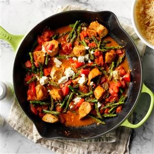 Chicken & Goat Cheese Skillet Recipe