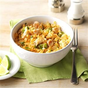 "Chicken & Spanish Cauliflower ""Rice"" Recipe"