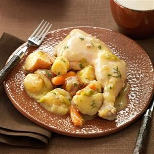 Chicken & Vegetables with Mustard-Herb Sauce