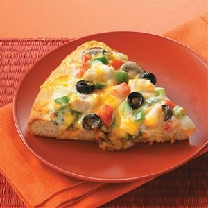 Chicken Alfredo Veggie Pizza Recipe