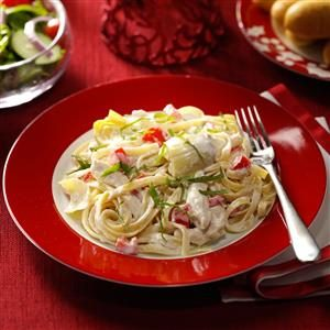 Chicken and Artichoke Fettuccine Alfredo Recipe