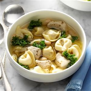 Chicken and Kale Tortellini Soup Recipe