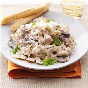 Chicken Bow Tie Alfredo Recipe