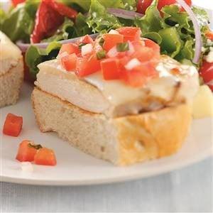 Chicken Bruschetta Sandwiches Recipe