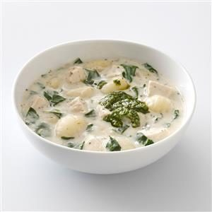 Chicken Gnocchi Pesto Soup