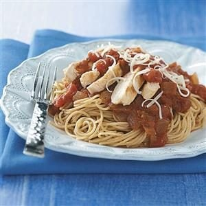 Chicken Marinara with Pasta Recipe