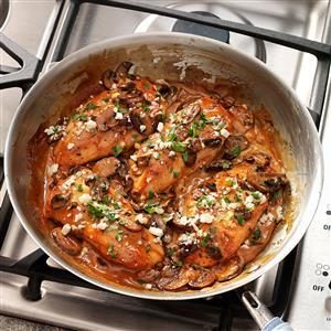 Chicken Marsala with Gorgonzola