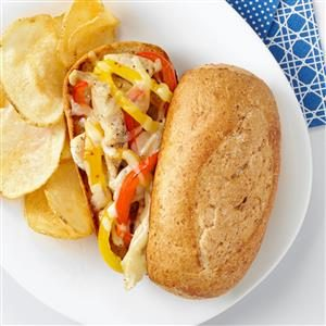 Chicken Philly Sandwiches Recipe