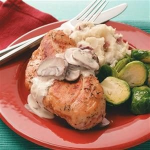 Chicken Portobello with Mashed Red Potatoes Recipe