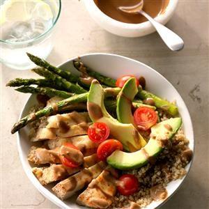 Chicken Quinoa Bowls with Balsamic Dressing Recipe