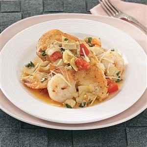 Chicken with Artichokes and Shrimp Recipe